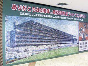 競馬場80周年記念事業で制作したお客様参加型のフォトモザイク事例