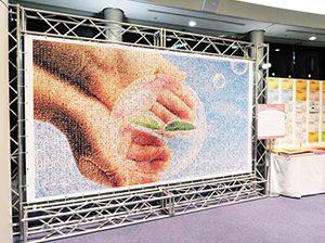 ユネスコ世界会議「未来へつなぐメッセージ」モザイクアート