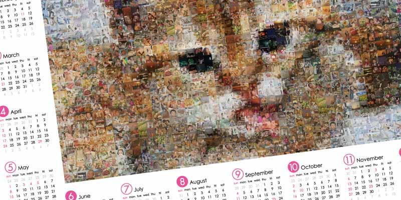 フォトモザイクアート・カレンダー