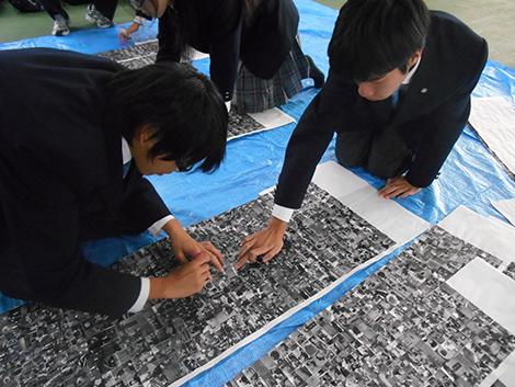 文化祭モザイクアート