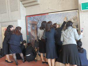 卒業記念モザイクアート