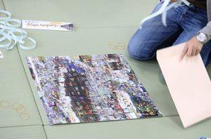 沼田城フォトモザイクアート写真貼り付け完成