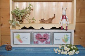 フォトモザイクと赤ちゃんの手形足形