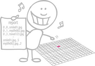 フォトモザイク配置レポート